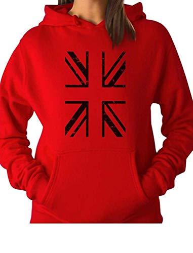 Laura Longman Vintage British Flag United Kingdom Flag Women Hoodie