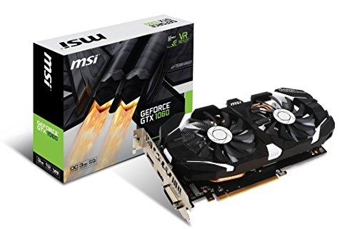 MSI GeForce GTX 1060 3GT OC 3GB Nvidia GDDR5 1x HDMI, 1x DP, 1x DL-DVI-D, 2 Slot Afterburner OC, VR Ready, 4K-optimiert, Grafikkarte