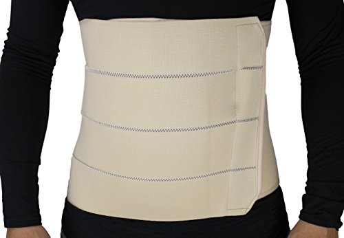 ObboMed MB-2322NXXL 4-Bänder atmungsaktiver und elastischer Gürtel/Bauchstützgürtel nach Operation, nach Geburt, bei Verletzungen, Nabelbruch, Trimmen der Taillie und Bauch - XXL : 119,4-132,1 cm -