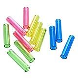 LARRY SHELL 20 Piezas Colores Surtidos Transparente Protector de plástico Tapa del lápiz, Color al Azar, Cubierta del lápiz, Pluma de protección, cosméticos Proteger, lápiz de Punta de Plomo, Soporte
