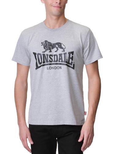 Lonsdale Logo T-Shirt Grigio Melange XL (UK L)