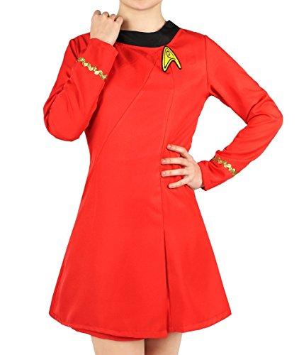 KeySmart Sternenflotten Uniform Kleid von Nyota Uhura Größe: - Startrek Kostüm