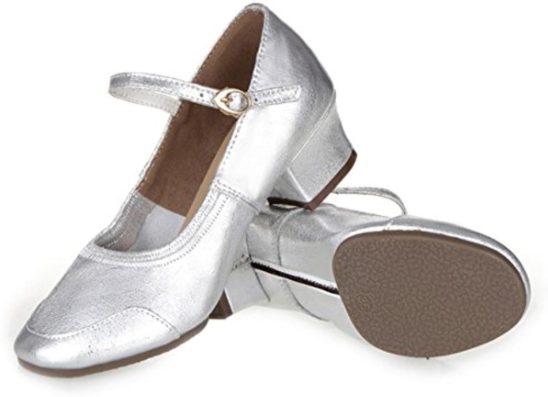 Wxmddn Chaussures de danse femme chaussures argent quatre saisons chaussures de à semelle souple chaussures de chaussures danse...B077BK19Q2Parent ff1829