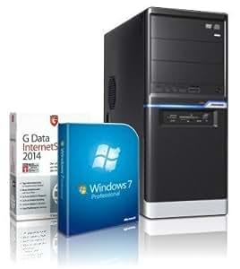 Gaming / Multimedia COMPUTER mit 3 Jahren Garantie! | Quad-Core! AMD A8-6600K 4 x 4000 MHz | 8192MB DDR3 | 1000GB S-ATA II HDD | AMD Radeon HD 8570 4096 MB DVI/VGA mit DirectX11 Technology | USB3 | FM2+ Mainboard | 22x Dual Layer DVD-Brenner | All-In One Card-Reader | 7 USB-Anschlüsse | Windows7 Professional 64 | GDATA Internet Security 2014 | #4576