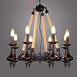 JIE Kerze Kronleuchter American Loft Style Persönlichkeit Retro Kerzenlicht, Eisen Kronleuchter, Bars, Cafés, Wohnzimmer Luxus Hohle Spitze acht Lampe Kronleuchter (ohne Glühbirne)