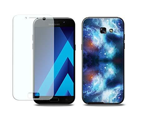 etuo Samsung Galaxy A5 (2017) - Hülle, Silikon, Gummi Schutzhülle Full Body Slim Fantastic - Kosmos