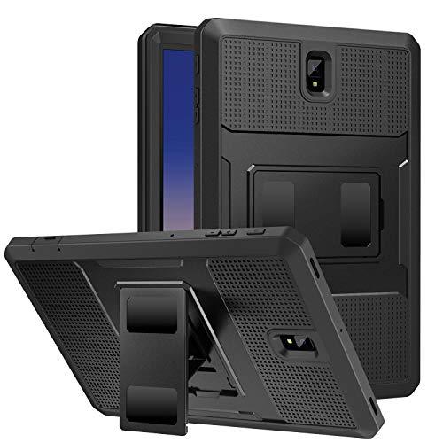 MoKo Cover per Samsung Galaxy Tab S4 10.5', Custodia Protettiva Copertura Completa Anti-Urti e Sporco con Pellicola Integrata per Samsung Galaxy Tab S4 10.5' - Nero