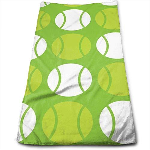 Juzijiang Green Tennis Balls 100% Cotton Towels Ultra Soft & Absorbent Bathroom Towels - Great Shower Towels, Hotel Towels & Gym Towels