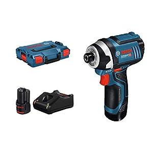 Bosch Professional GDR 12V-105 – Atornillador de impacto a batería (2 baterías x 2.0 Ah, 12V, 105 Nm, en L-BOXX)