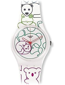 Swatch Damen-Armbanduhr Analog Quarz Silikon GW168