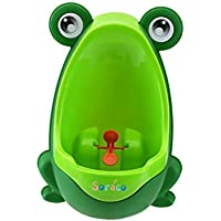 Cute Frog garçons Potty Toilettes frappe pour garçons Pee Trainer de salle de bain Enfant Uninal avec Whirling Cible
