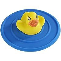 Wenko 53000100 Abfluss-Stop Ente für alle handelsüblichen Spülbecken, Silikon, blau, 11 x 11 x 4 cm