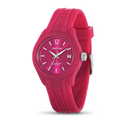 Sector Women's Quartz Watch with Pink Dial Analogue Display and Pink Silicone Strap R3251576501
