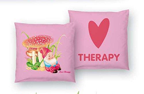 Lot 2 taies copricuscni Love Therapy champignon bassetti Rose Fuchsia 40 x 40 cm