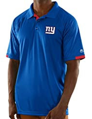 "New York Giants Majestic NFL ""Club Level"" Men's Short Sleeve Polo shirt Chemise"