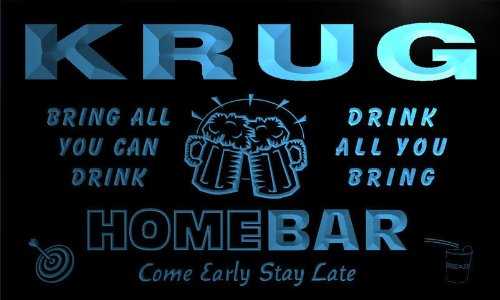 q24562-b-krug-family-name-home-bar-beer-mug-cheers-neon-light-sign
