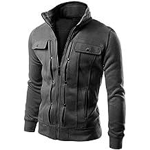 FNKDOR Nuevo TOP Fashion Mens Slim diseñado chaqueta de abrigo de solapa