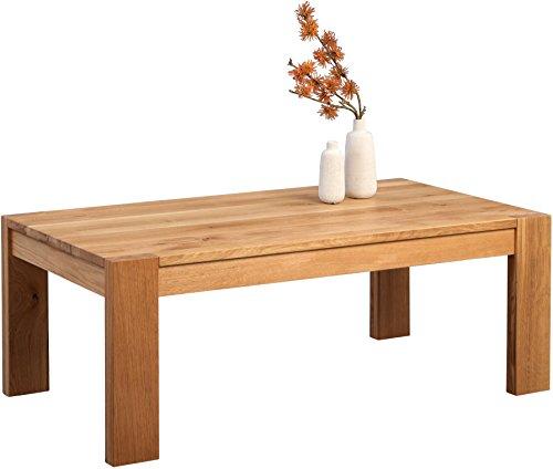 HomeTrends4You Torge Couchtisch, Holz, Wildeiche massiv geölt, 110 x 60 x 42 cm