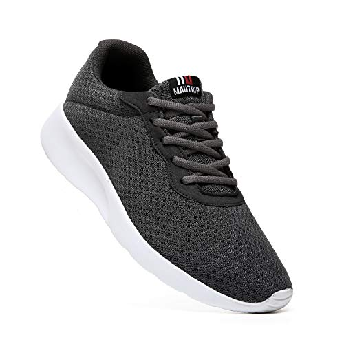 sports shoes 5f0f5 23482 MAIITRIP Men s Trainers Road Running Shoes Casual Mesh Athletic Sneakers  for Gym Sports Fitness,Charcoal