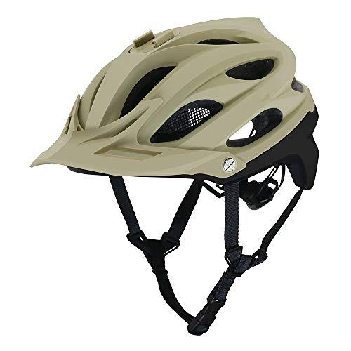 Ausgestattet Khaki (Gut Aussehend Mountain Cross-Country-Fahrräder für Männer und Frauen Atmungsaktive Sicherheitsreithelme können mit Sportkameras ausgestattet Werden (Farbe : Khaki))