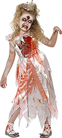 Smiffy's Children's Sleeping Zombie Princess Costume, Bloody Dress, Size: M, Colour: Pink and Red,