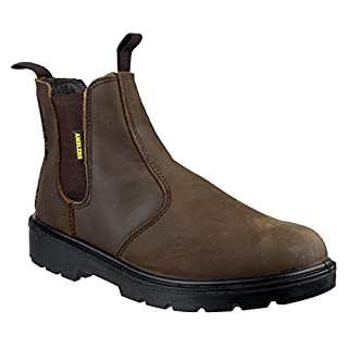 Amblers Safety Mens FS128 Leather Safety Dealer Boots Brown