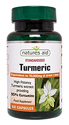 Natures Aid 400mg Turmeric - Pack of 60 Capsules by Natures Aid