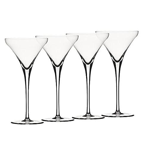 Spiegelau & Nachtmann, 4-teiliges Martini-Set, Kristallglas, 260 ml, Wilssberger Anniversary,