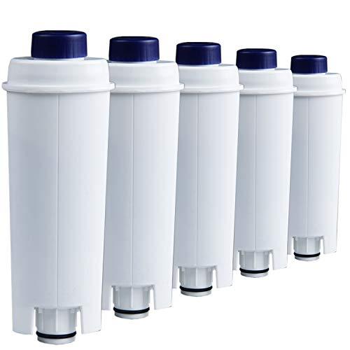 SET 5-Pack Cartuccia filtro acqua compatibilmente cartuccia filtrante DeLonghi DLSC002 | ECAM | ESAM | ETAM | BCO | EC *