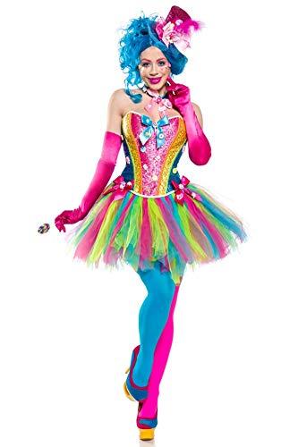 Generique - Candy Clown-Kostüm für Damen Bonbons bunt ()