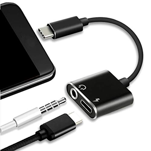 Pucidder Aux USB C Adapter, Klaren Sound USB C zu 3,5 mm Audio Adapter mit Ladekabel für Huawei P20 / P20 Lite / P20 Pro, Huawei Mate 20/20 Pro/20 Lite etc. (für Type C, Schwarz) - X Moto Hdmi-adapter