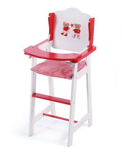 Doll High Chair - Pattern Teddy Bear