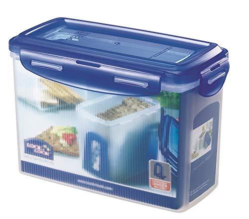 ZIP Premium Lock&Lock Knäckebrotdose / Knäckebrotbox1,5 L - mit blauem Deckel - 100% luftdicht