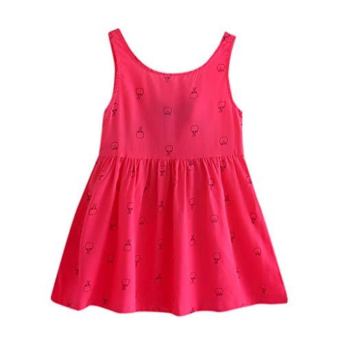YUAN Mädchen Kleid, Kleinkind Baby Kids Bowknot Floral Sleeveless Lässige Prinzessin Dresse Weste Rock Kleidung