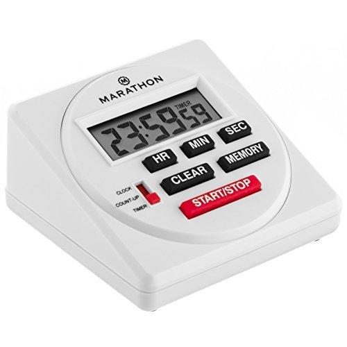Marathon Ti080001 Grande Minuteur Digital 24 heures avec compte à rebours, chronomètre. et fonction Horloge - batterie incluse