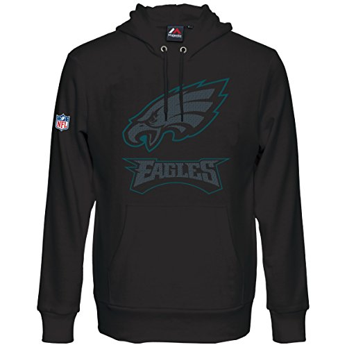 Majestic HEATHLY Hoody - NFL Philadelphia Eagles - XL (Sweatshirt Eagle American Hoodie)