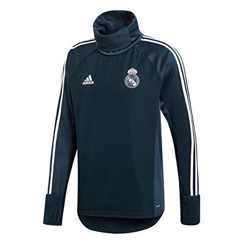 adidas Herren Real Warm Langarm Sweatshirt, Tech Onix/Core White, L -