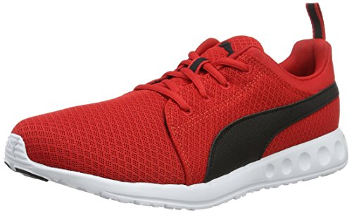 Puma Carson Mesh Scarpe Running Uomo Rosso High Risk Red Black 06 39