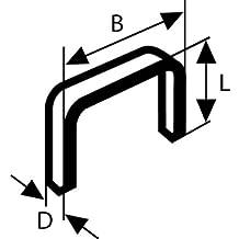 Bosch 2 609 200 222  - Grapa de alambre plano tipo 54 - 12,9 x 1,25 x 14 mm (pack de 1000)