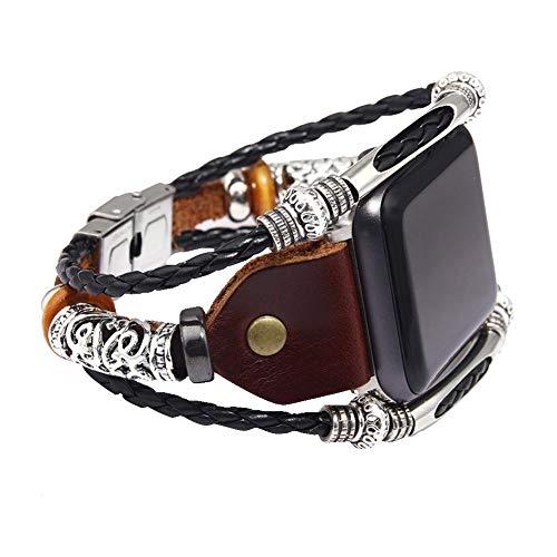 Preisvergleich Produktbild Occitop Braccialetto di ricambio per orologio da polso in acciaio inossidabile per iWatch (Marrone A)