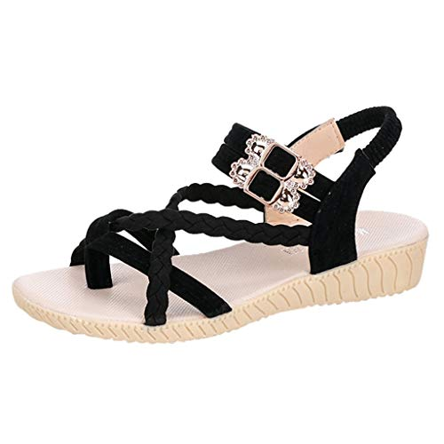 Sandales Femmes Plates,Yesmile Tropeziennes Mode Femmes D'éTé Open Toe Sandales Romain Chaussures Casual Sandales de Plag