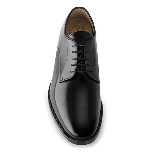 Masaltos-chaussures pour hommes sur manière Invisible Augmenter votre taille jusqu'à 7cm Modèle Orlando Noir - Noir