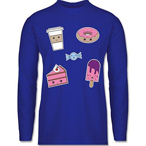 Küche - Kawaii Sweets - Longsleeve / langärmeliges T-Shirt für Herren Royalblau