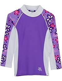 Tuga Manga Larga UV Natación Camisa Costa 2–14años UPF50+ Protección Solar (violeta), 6-7 años