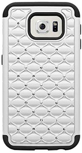 Cell-Pak Hybrid Spot Dazzle Schutzhülle für Samsung Galaxy S6, weiß/schwarz -