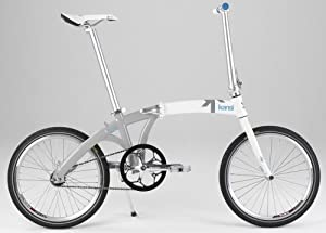 Kansi 20 1twenty Singlespeed Folding Bike White Grey Custom
