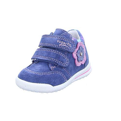 Superfit Baby Mädchen Avrile Mini Sneaker Blau/Rosa 80, 23 EU