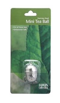 Hic Loose Tea Leaf Mini Tea Ball And Herbal Infuser, 18/8 Stainless Steel, Pierced Tea Ball, 1.25 Inch X 1.5 Inch