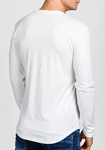 BOLF – Sweat-shirt – Manches longues – MIX – Homme Blanc_113