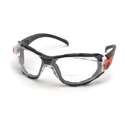 Elvex go-specs EVA-Schaum gefüttert RX BIFOKALGLÄSER, Anti-Fog, PC Linse, Splash, Impact Spektakel/Goggle + 2,5Dioptrien, Clear Lens